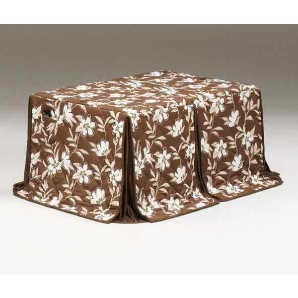 ハイタイプ/ダイニングこたつ布団 長方形135×85巾コタツ用 総花柄135 高脚用薄掛け布団