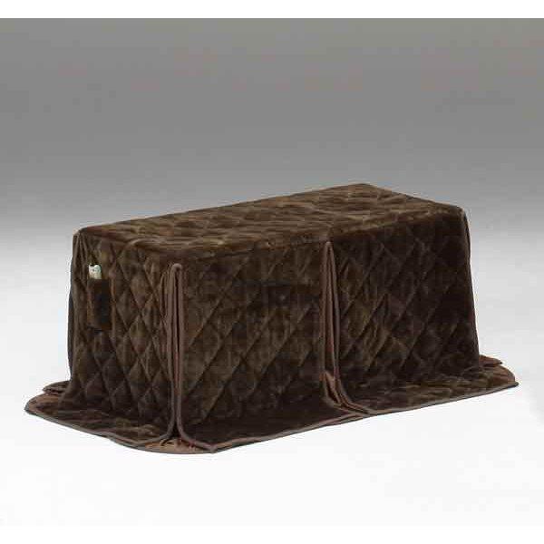ハイタイプ/ダイニングこたつ布団 長方形120×60巾コタツ用 無地ダークブラウン色120 高脚用薄掛け布団