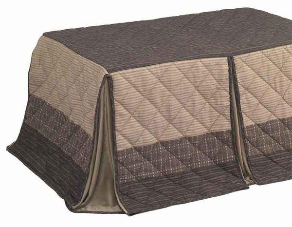 長方形ダイニングこたつ用掛布団 135巾ハイタイプ高脚こたつ用