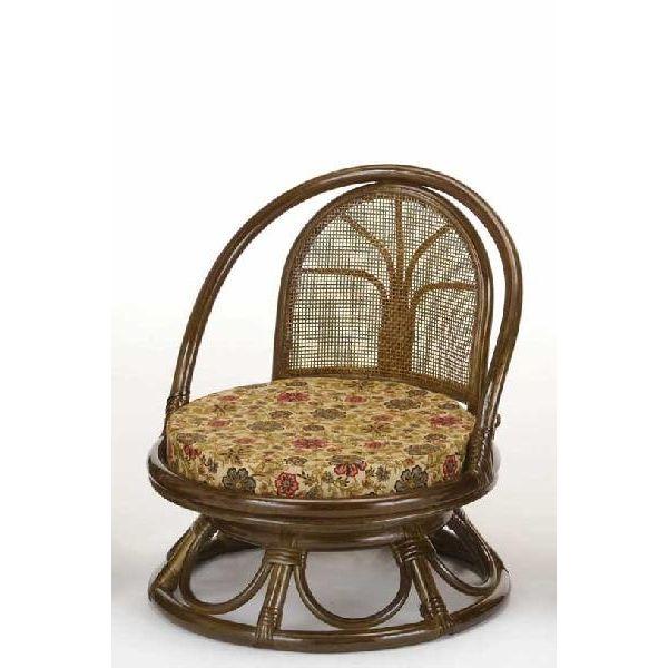 回転籐椅子 ラタンチェアミドルタイプ 座椅子 s512b
