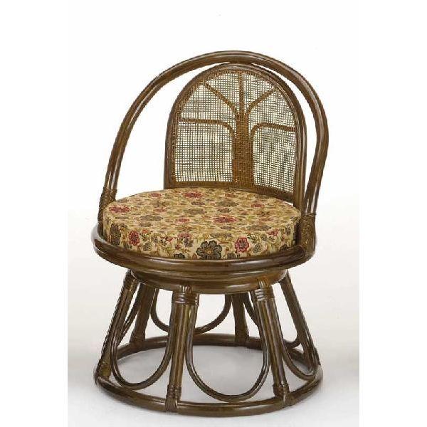 回転籐椅子 ラタンチェアミドルハイタイプ 座椅子 s513b