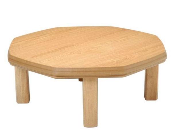こたつ コタツテーブル 八角形100 天然杢タモ DANRAN-NA ナチュラル色