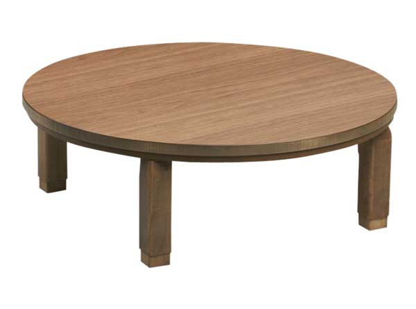 折れ脚円形家具調こたつ コタツテーブル 120丸 だんらん ウォールナット 国産品(日本製)