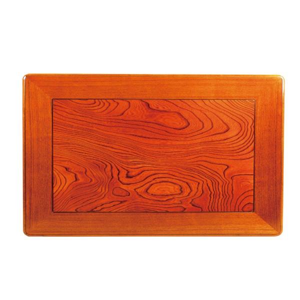 和風こたつ板 こたつ天板 片面仕様 天然杢欅(ケヤキ)突板 150×90センチ長方形 額縁ミゾ有り
