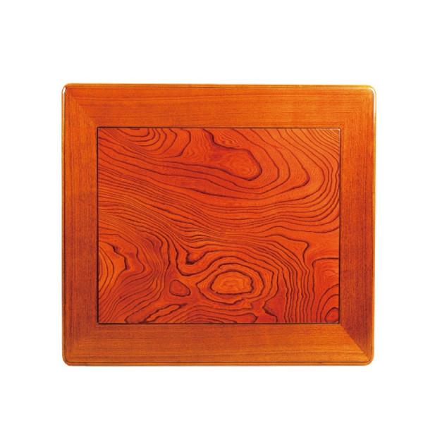 和風コタツ板 こたつ天板 90センチ角正方形 国産品(日本製)額縁ミゾ有り 片面仕様 天然杢欅(ケヤキ)突板