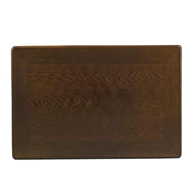 和風コタツ板 こたつ天板 120×80センチ長方形  国産品(日本製)額縁ミゾ無し 片面仕様 天然杢楢(ナラ)突板