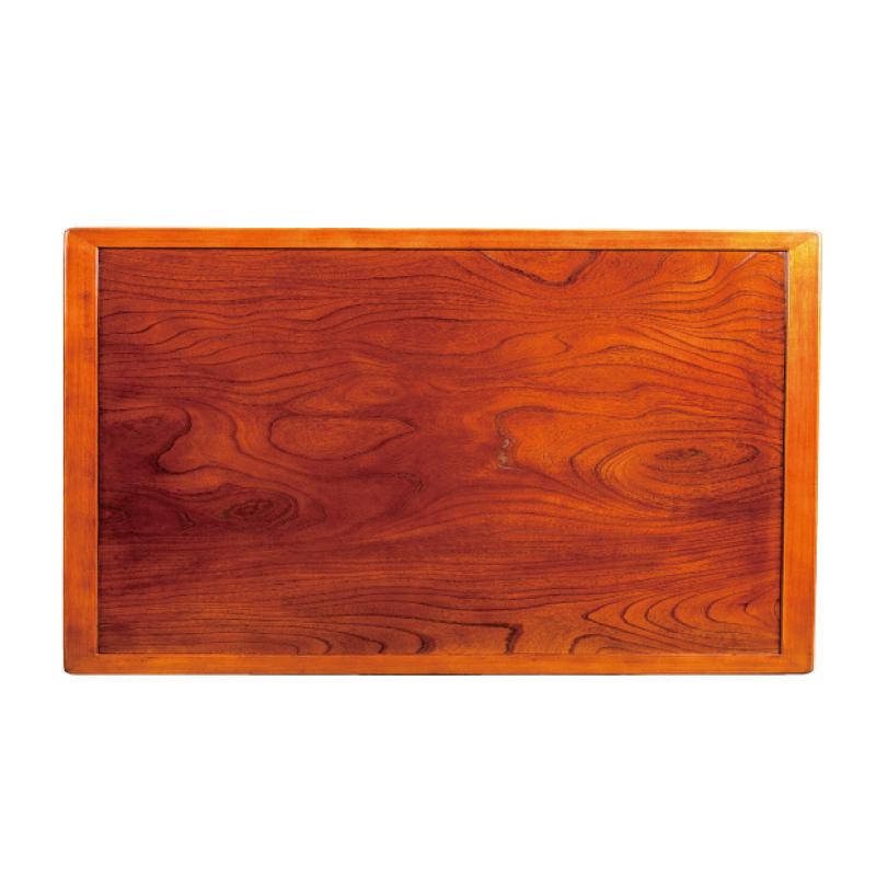 和風コタツ板 こたつ天板 150×90センチ長方形 両面仕様 縁付き 天然杢欅(ケヤキ)突板