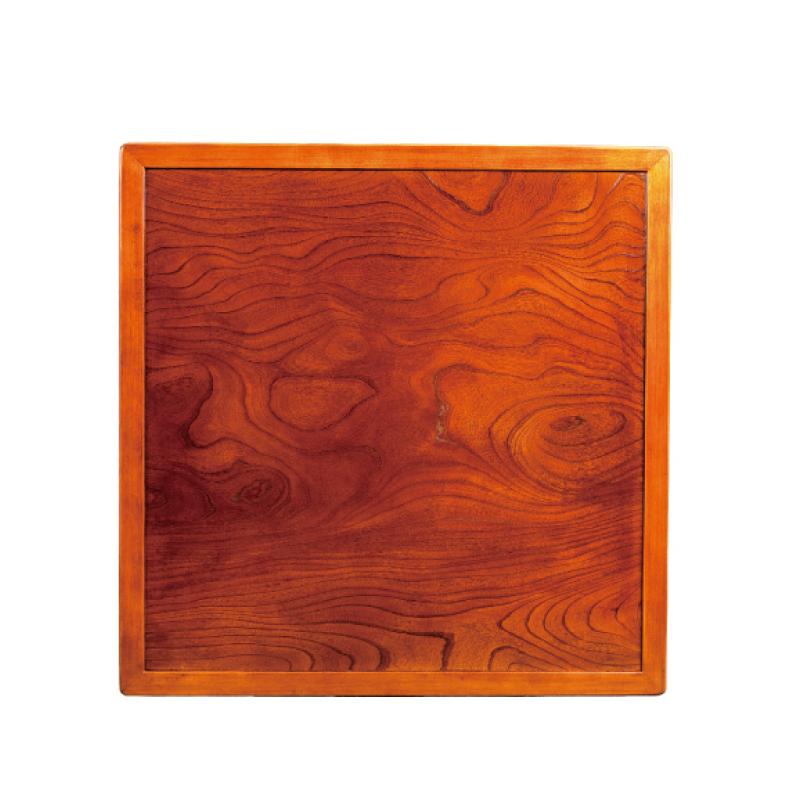 和風コタツ板 こたつ天板 80角正方形 両面仕様 縁付き 国産品(日本製)天然杢欅(ケヤキ)突板
