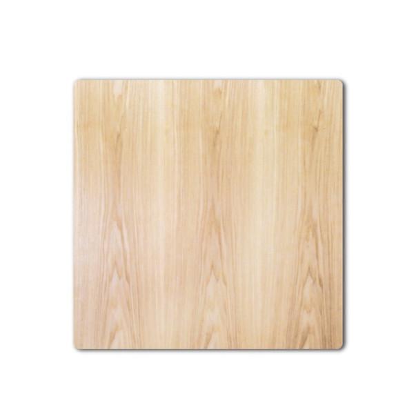 コタツ板 こたつ天板 90×90センチ正方形 国産品(日本製)片面仕様 天然杢タモ突板