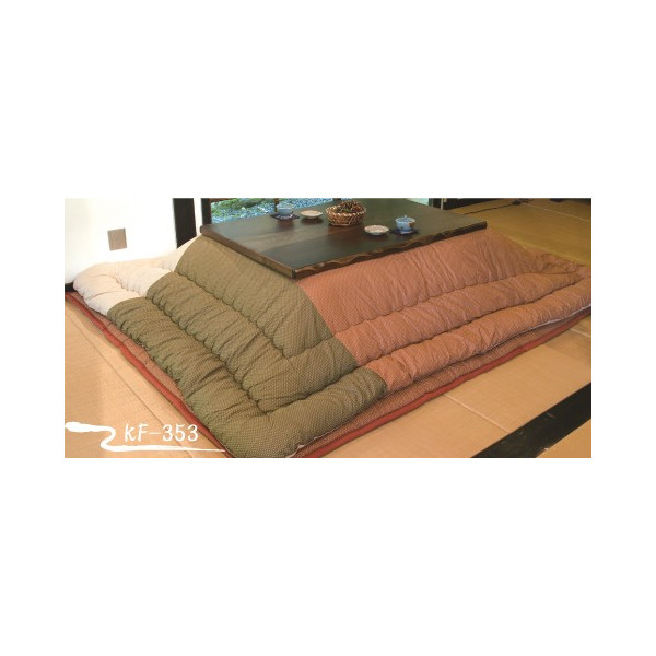 コタツ+長方形こたつ布団掛敷セット 120巾コタツ+ふとんセット 切替柄