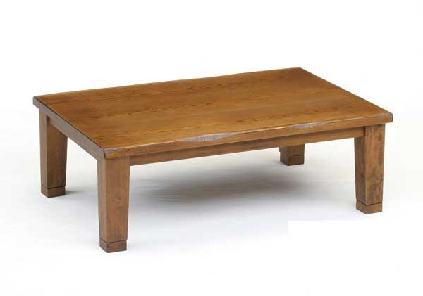 長方形家具調こたつ コタツテーブル 105巾 マリーナ ブラウン色
