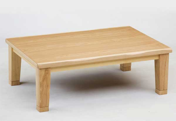 長方形家具調コタツ こたつ 180幅 マリーナ 天然杢タモ