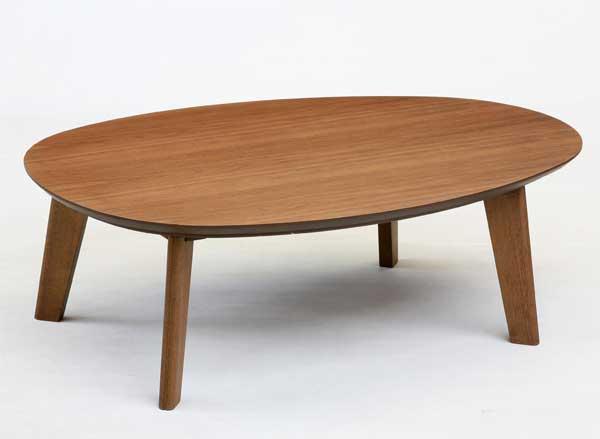 タマゴ型家具調コタツ こたつ 120幅 マルコ ウォールナット