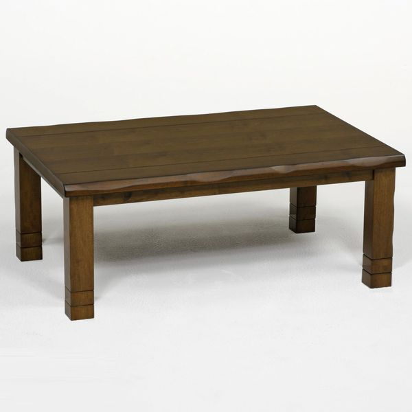こたつ コタツテーブル 天然杢突板 120巾長方形新和風こたつ みずき120 ブラウン色