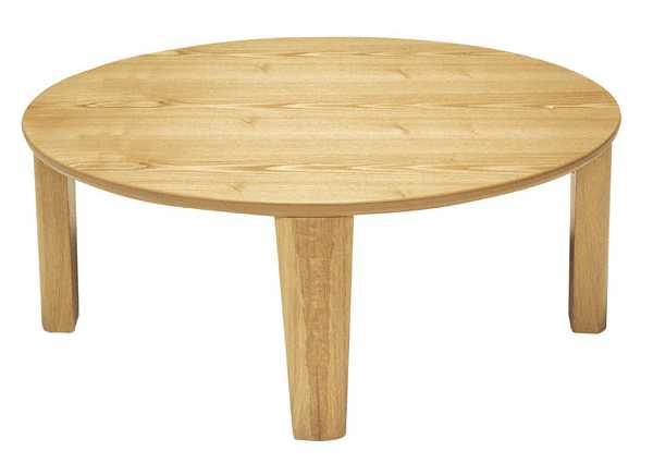 円形家具調こたつ コタツテーブル 90センチ丸 レアル ナチュラル色