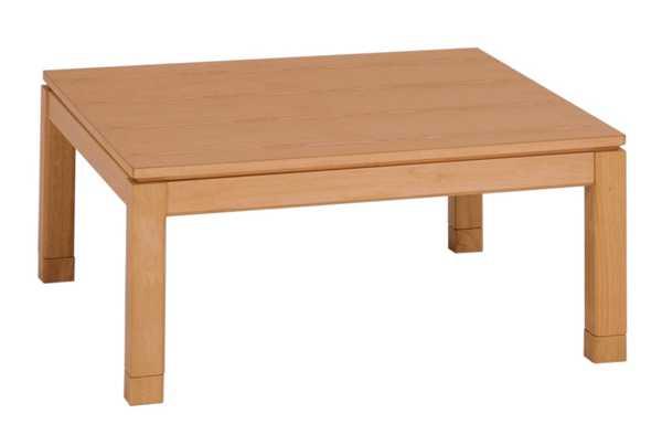 家具調こたつ コタツテーブル 90角正方形 シェルタ ナチュラル色