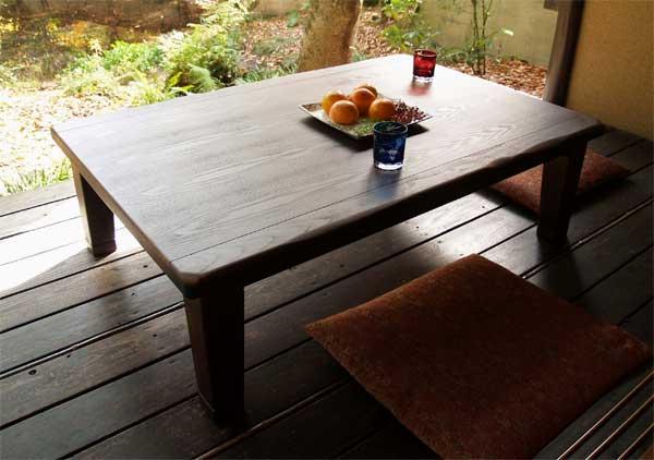 国産こたつ コタツテーブル 駿河 天然杢タモ 120センチ巾