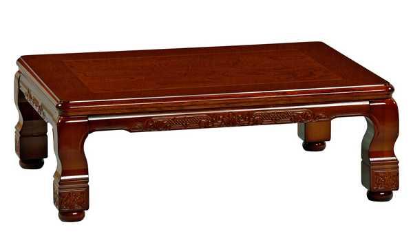 国産こたつ コタツテーブル 純和風長方形120巾 天然杢欅 蔵王