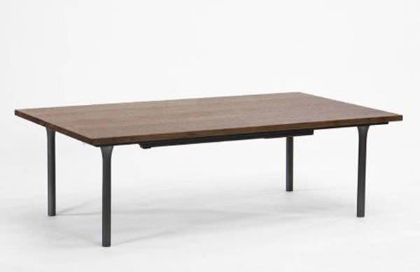 こたつテーブル 細く薄いフォルム 100幅長方形 AL100 天然杢ウォールナット突板 コタツ 国産品