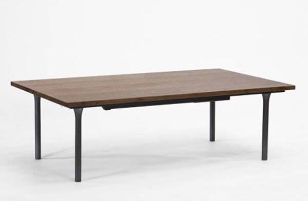 こたつテーブル 細く薄いフォルム 120幅長方形 AL120 天然杢ウォールナット突板 コタツ 国産品