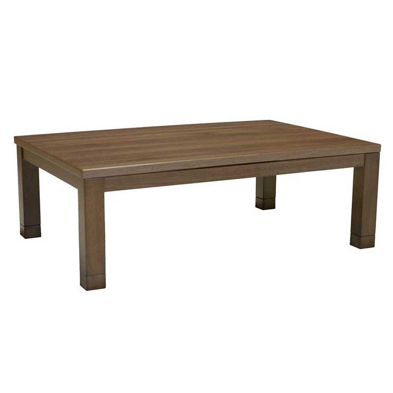 こたつテーブル 長方形幅105センチ ダイナ2 家具調コタツ ブラウン色 ローテーブル