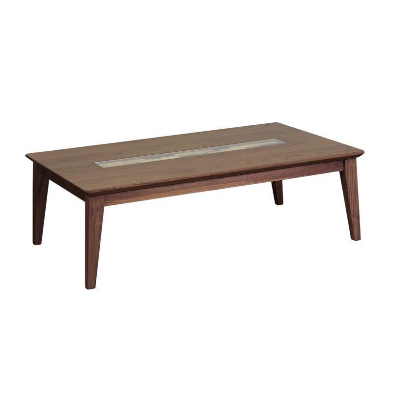 こたつテーブル 120幅長方形 エンブレムISM ウォールナット 天然杢ウォールナット突板 コタツ 国産品