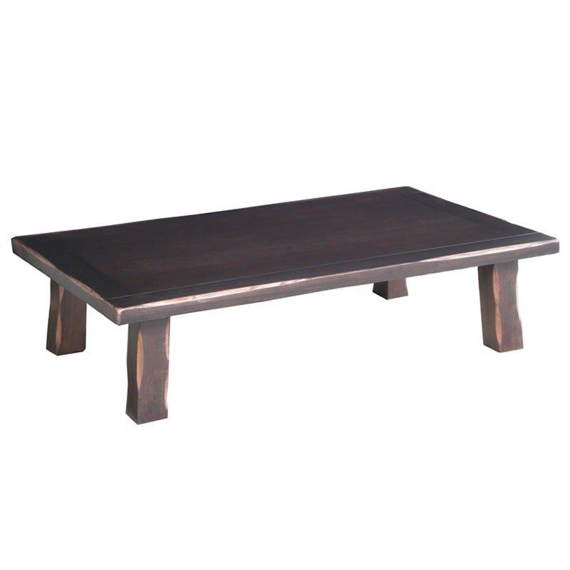 新和風座卓テーブル 長方形幅135センチ 風雅 タモ ローテ-ブル ちゃぶ台 日本製