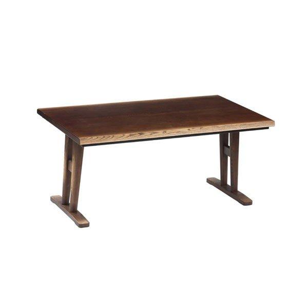 ハイタイプこたつテーブル/ダイニングコタツ 日向(ひゅうが) 150センチ幅長方形こたつ ダークブラウン色