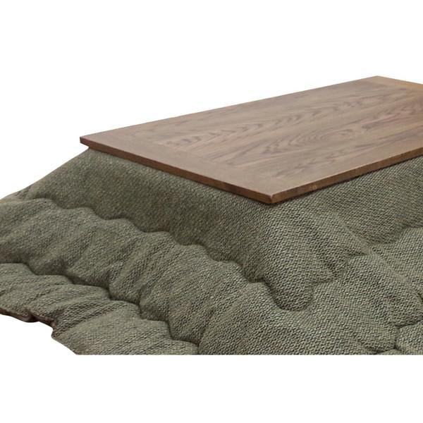 こたつ布団 長方形用こたつ布団(掛け単品) 長方形120巾コタツ用 薄掛 Jプレイン250 GN(グリーン色)
