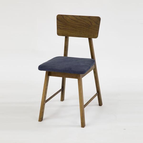 木製ダイニングチェアー/ハイタイプ高脚こたつ用食堂椅子 ジャグ(JAGG) ブラウン色 デニム張り 安心、信頼の国産品(日本製)です