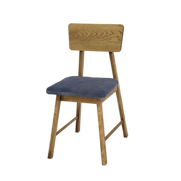 木製ダイニングチェアー/ハイタイプ高脚こたつ用食堂椅子 ジャグ(JAGG) ライトブラウン色 デニム張り 安心、信頼の国産品(日本製)です