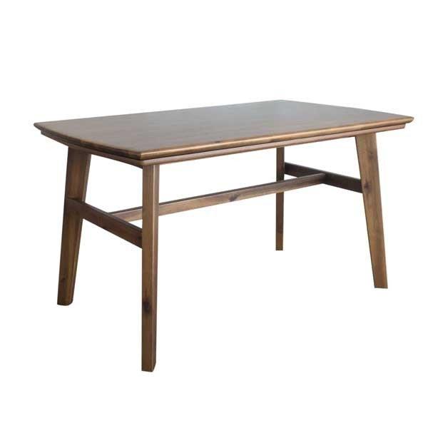 ハイタイプこたつテーブル/ダイニングコタツ ジェイク 120センチ幅長方形こたつ ライトブラウン色