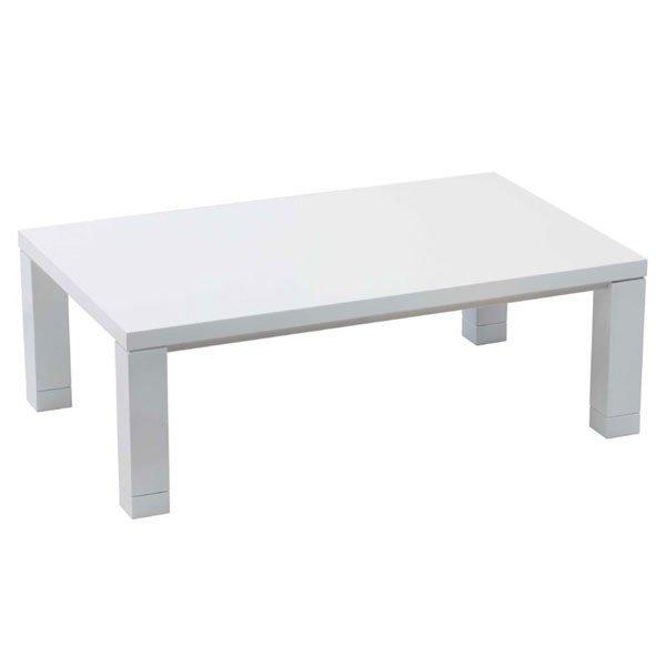 こたつテーブル 長方形幅120センチ ジェシカ 家具調コタツ ホワイト色 ローテーブル