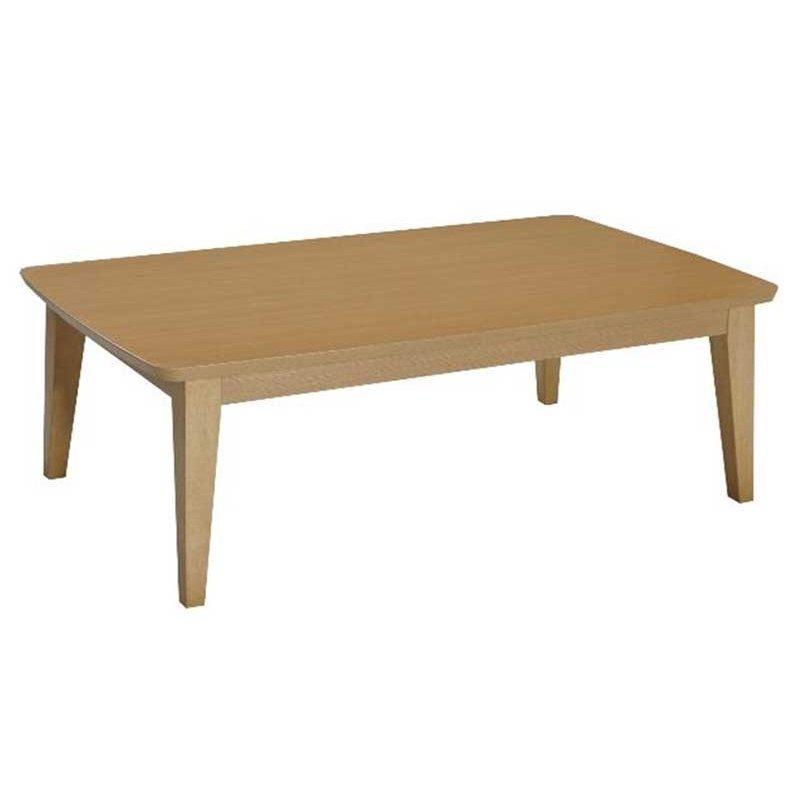 こたつテーブル 長方形幅105センチ ジェット 家具調コタツ ナチュラル色 ローテーブル