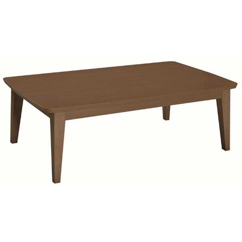 こたつテーブル 長方形幅120センチ ジェット 家具調コタツ ブラウン色 ローテーブル