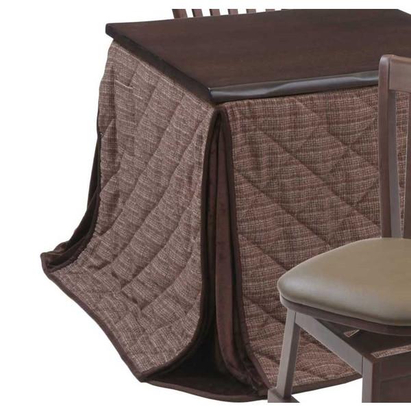 ハイタイプ高脚/ダイニングこたつ布団 正方形80×80巾コタツ用 楓(かえで)80 高脚用薄掛け布団