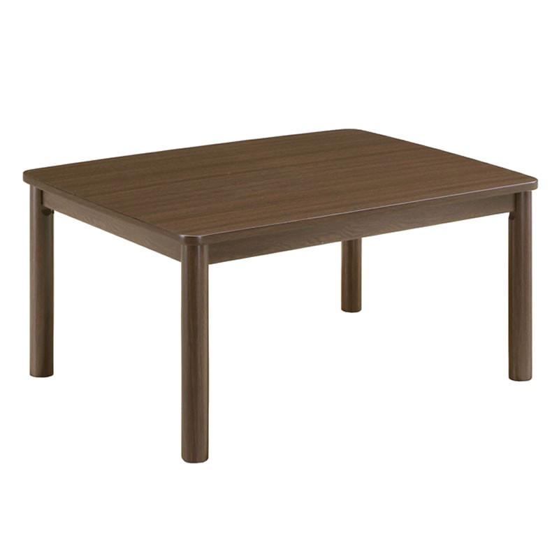こたつ モダンコタツテーブル カジュアル80×60 小型長方形80幅 ブラウン色