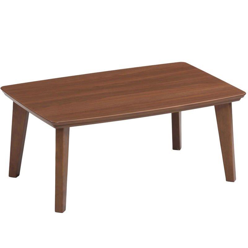 一人用こたつテーブル 長方形幅90×60センチ ケリー90 ブラウン色家具調コタツ ローテーブル