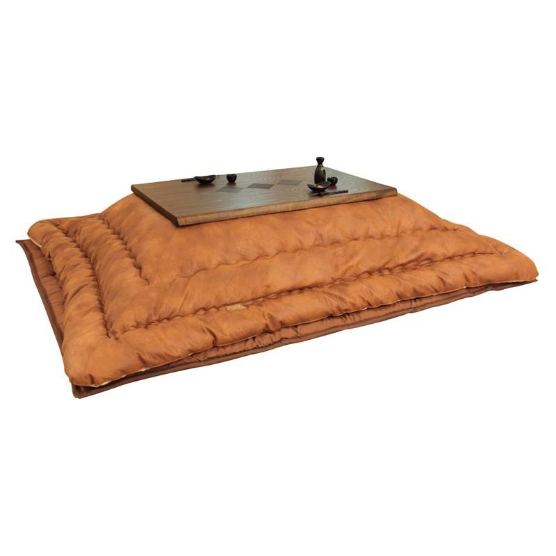 こたつ布団 105~120センチ巾こたつ用 KF-387 ヴィンテージテイスト 長方形こたつ掛け布団(掛け敷きセット) 国産品