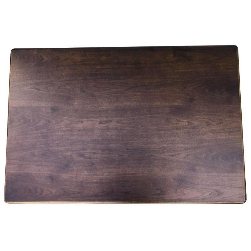 コタツ板 こたつ天板 片面仕様 天然杢ウォールナット突板 120×80センチ長方形