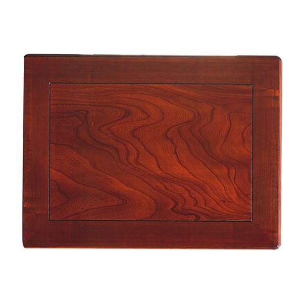 和風コタツ板 コタツ天板 120×90センチ長方形 額縁ミゾ有り 片面仕様 国産品(日本製)天然杢欅(けやき)突板