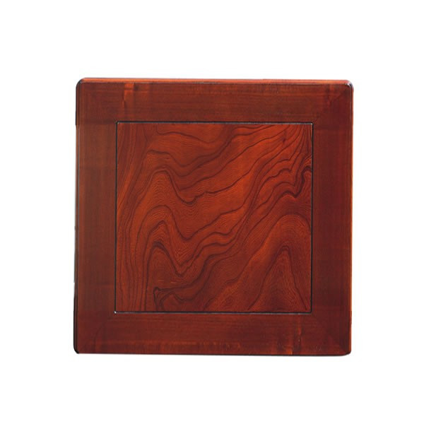 和風コタツ板 こたつ天板 90センチ角正方形 額縁ミゾ有り 片面仕様 国産品(日本製)天然杢欅(けやき)突板