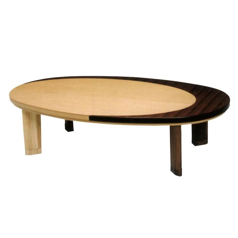 テーブル/こたつ オールシーズンコタツ 楕円形150巾 家具調コタツ クレセント 国産品