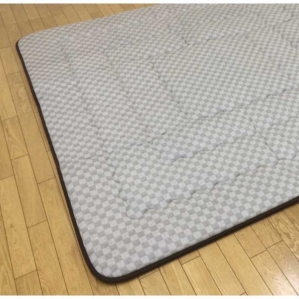 長方形こたつ用敷布団(ラグ/カーペット) 190×240サイズ クレタ ベージュ色