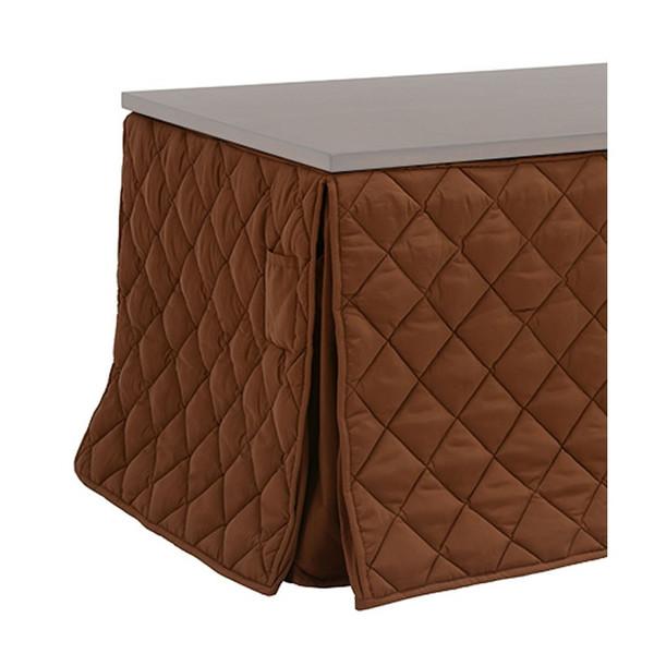 ハイタイプ高脚こたつ布団/ダイニングコタツふとん 長方形105×80巾こたつ用 薄掛け布団 マロンFH105 ブラウン色 ハイタイプ高脚