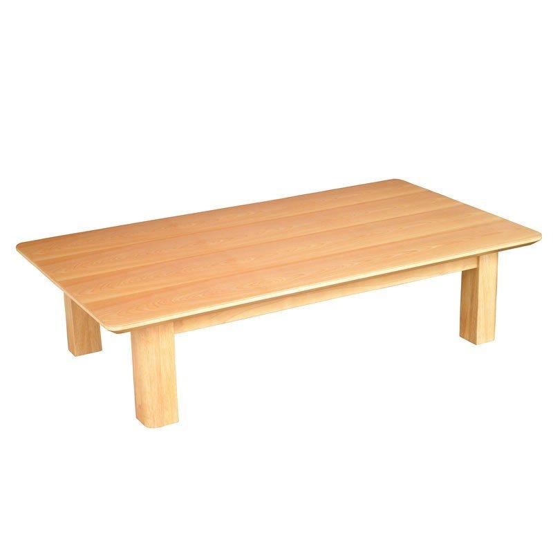 テーブル 座卓 新和風 国産座卓120 MINTO 天然杢樺桜(カバザクラ)突板 座敷机