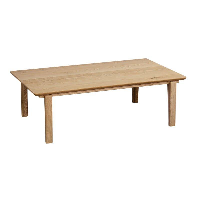 こたつテーブル 120幅長方形 モア120 天然杢オーク突板 コタツ 国産品