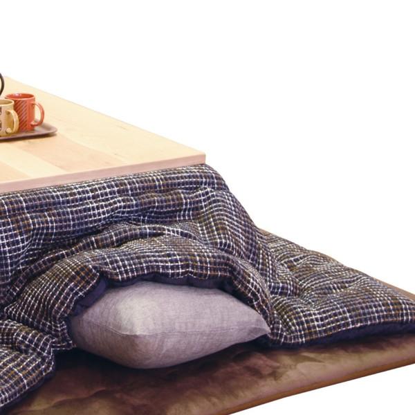 こたつ布団 長方形用コタツふとん(掛け単品) 長方形120巾コタツ用 薄掛 MTチェック250 NV(ネイビー色)