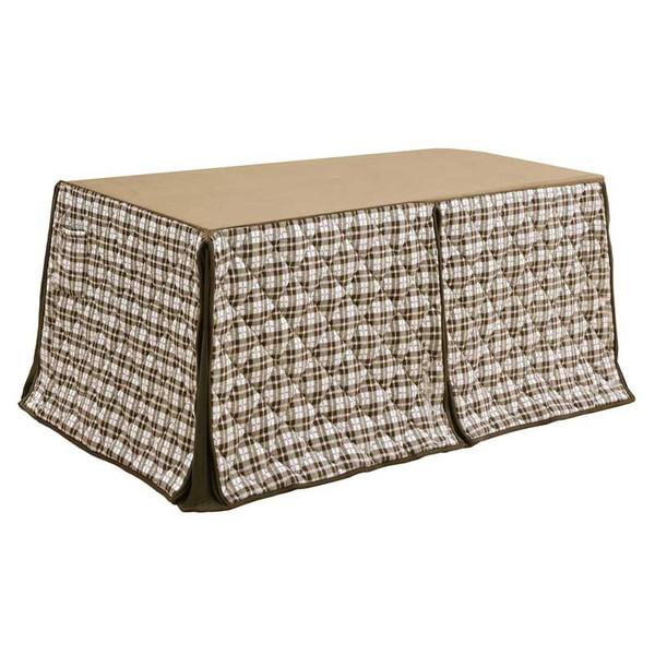 ハイタイプ高脚/ダイニングこたつ布団 長方形135×85巾コタツ用 オーバー柄135 高脚用薄掛け布団