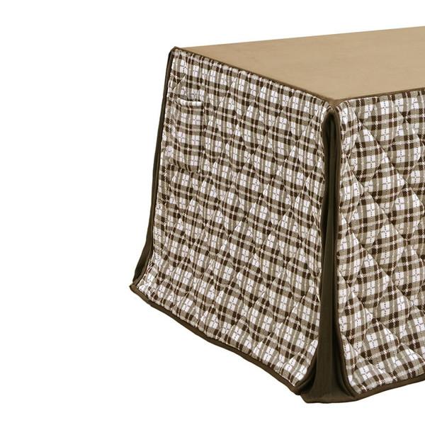 ハイタイプ高脚/ダイニングこたつ布団 正方形85×85巾コタツ用 オーバー柄85 高脚用薄掛け布団